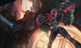 Vi stands proudly, ready to fight