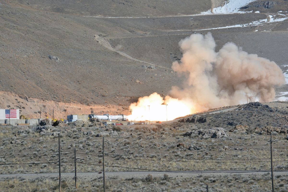 Northrop Grumman test fires new OmegA rocket second stage motor in Utah - Space.com
