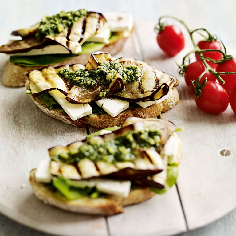 Chargrilled Aubergine Sandwich with Feta Recipe-recipe ideas-new recipes-woman and home