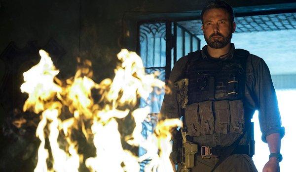 Triple Frontier Ben Affleck watches a pile of money burn to a crisp