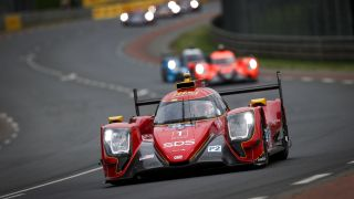 Cars on the track at the 2021 Le Mans
