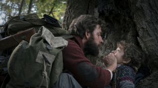 John Krasinski and Noah Jupe in A Quiet Place