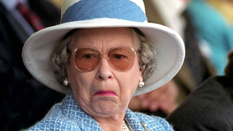 The Queen - Not Amused! - At The Royal Windsor Horse Show In Her 'back Garden' At Windsor Castle