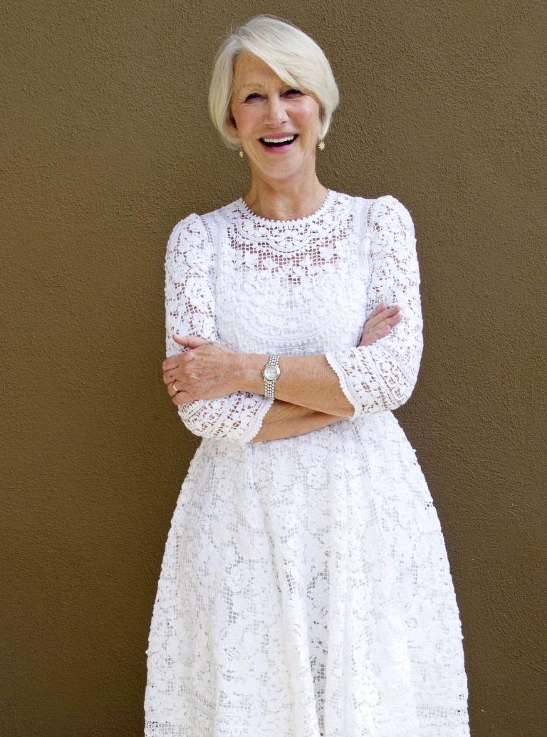 Helen Mirren White Dress