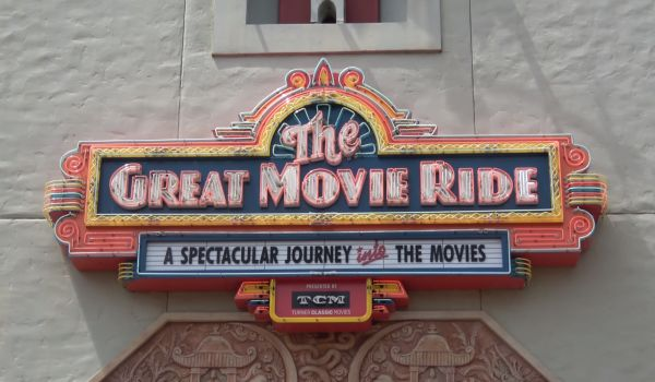 The Great Movie Ride Sign