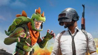 Fortnite's Rex faces down the dude in the welding mask from PUBG.