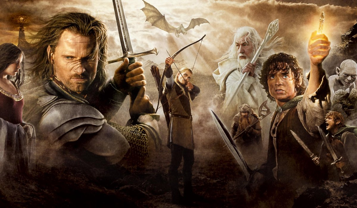 The Lord Of The Rings: Return of the King the cast assembled in movie poster fashion