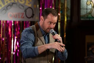 Mick Carter comperes the wife swap compitition