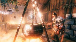 Valheim cauldron in kitchen