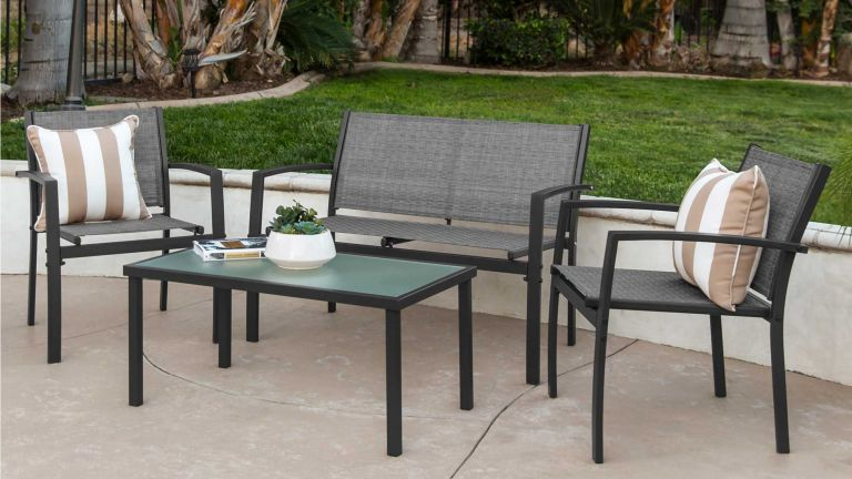 Best Choice Products 4-Piece Outdoor Patio Metal Conversation Patio Furniture Set