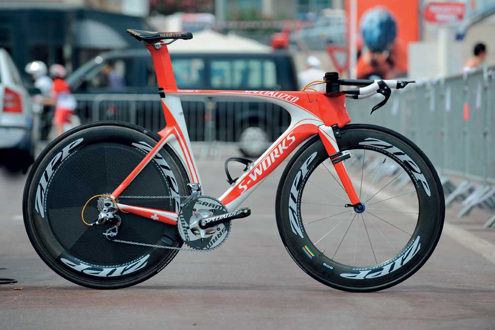 Cancellara's Specialized Shiv time trial bike