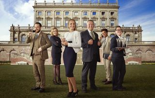 A Very British Country House - staff in front of Cliveden Hotel