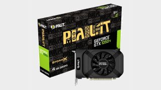 Palit GTX 1050 Ti graphics card and box