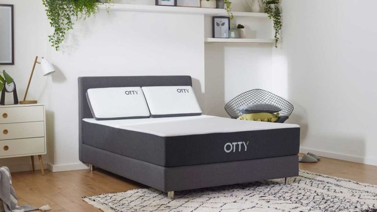 Otty mattress discount: Otty mattress in bedroom on bed