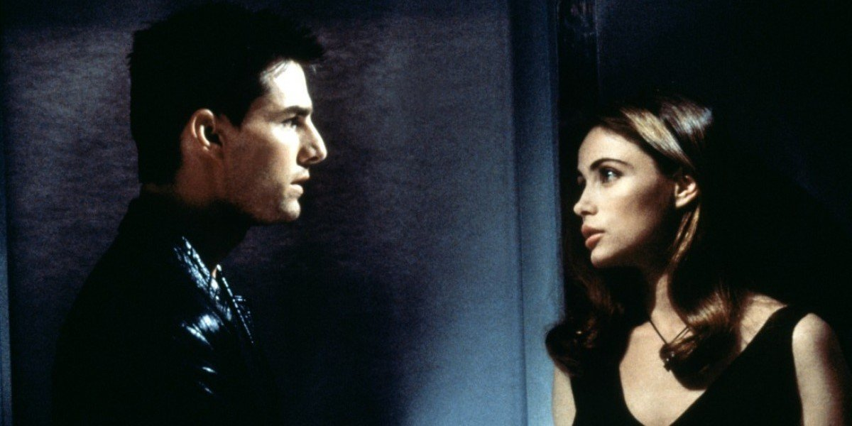 Tom Cruise and Emmanuelle Béart in Mission: Impossible