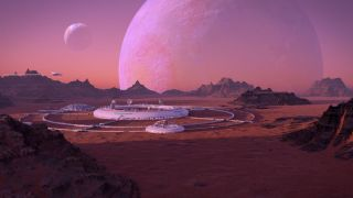 Human colony on an exoplanet.