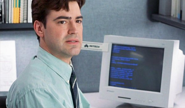 Ron Livingston Peter Gibbons Office Space Computer Monitor