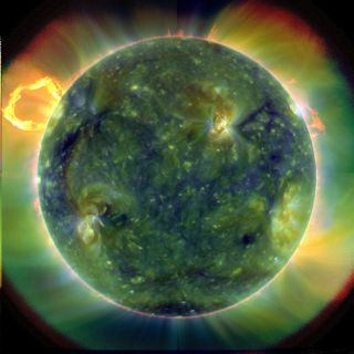 Ultraviolet image of the Sun taken by NASA's SDO.