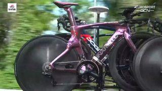 Egan Bernal's pink Pinarello