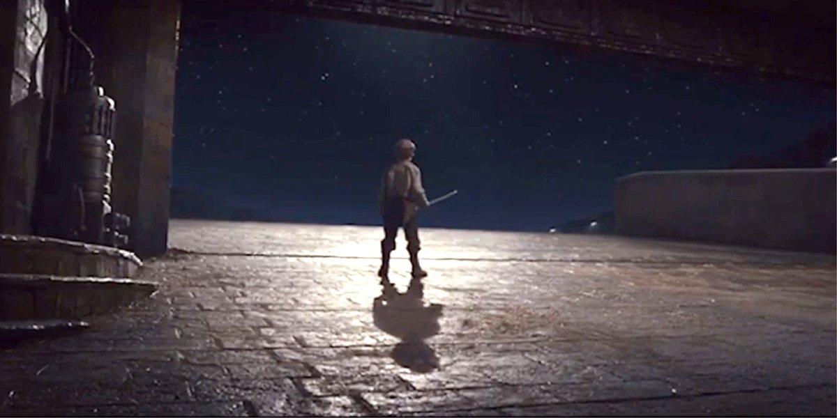 Final shot of Star Wars: The Last Jedi broom boy