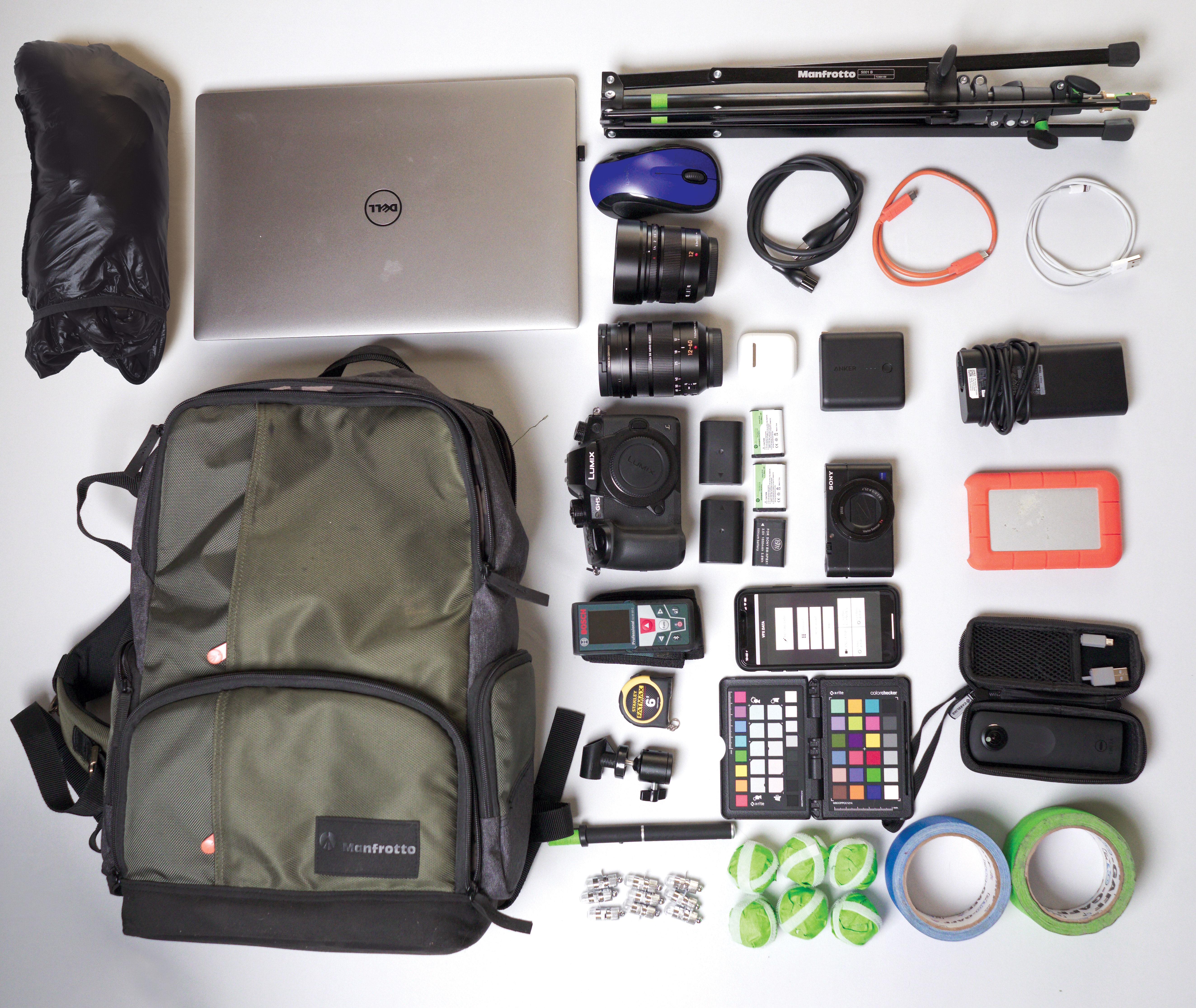 kitbag for VFX supervisor