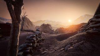 Arid desert survival game