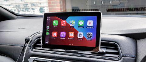 Intellidash+ showing Apple CarPlay on a car dashboard