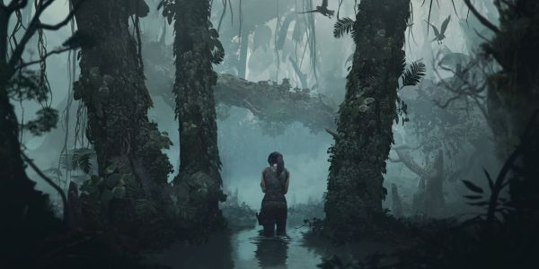 Lara Croft in the jungle in Shadow of the Tomb Raider