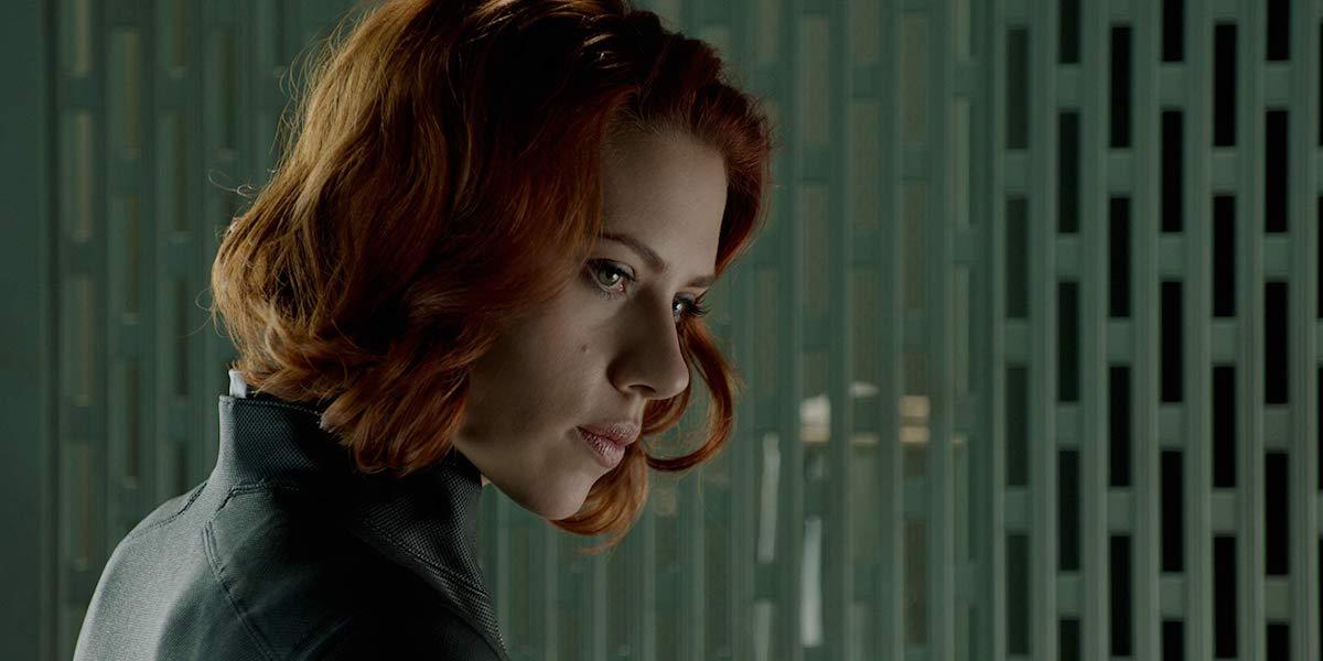 Scarlett Johansson as Black Widow in Avengers 2012