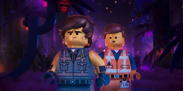 Rex Dangervest and Emmet in The Lego Movie 2