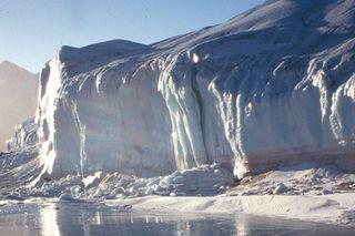 Antarctic glacier, global warming, climate change, ice melt