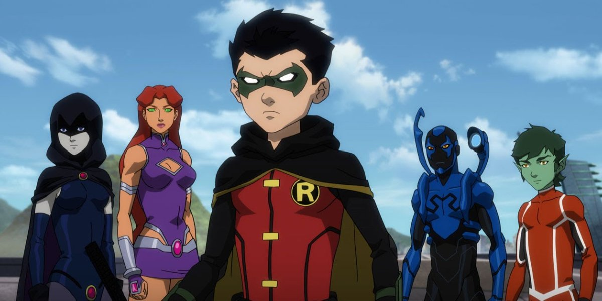 The Teen Titans in Justice League vs. Teen Titans