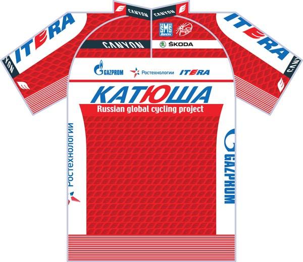 Katusha team jersey 2012