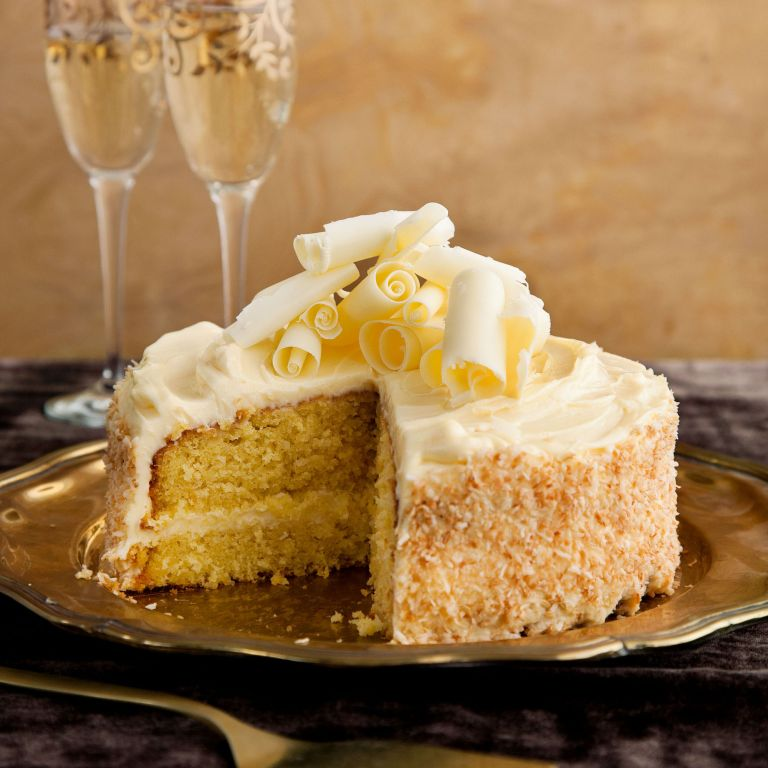 Frosted Peach-and-Coconut Cake recipe-cake recipes-recipe ideas-new recipes-woman and home