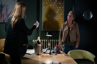 Lisa Fowler accuses Mel Owen of buying Louise's affections in EastEnders