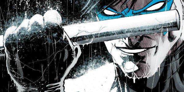 Nightwing rebirth comic cover baton