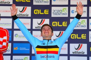 Remco Evenepoel wins the 2019 European time trial title for Belgium