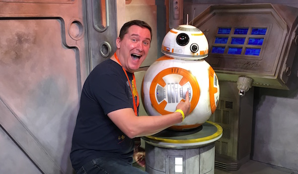Sean with BB-8