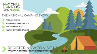 National Camping Show promotional illustration