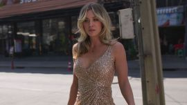 Kaley Cuoco Legit Had 3 Shoe Changes At The Emmys To Match Her Dress