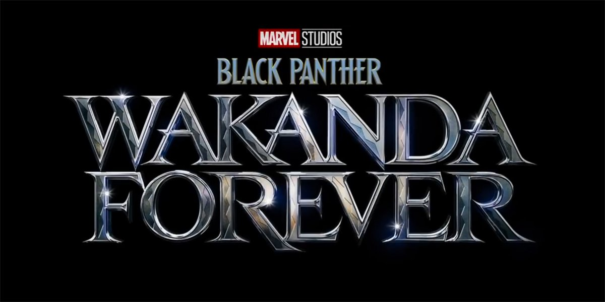 Black Panther Wakanda Forever logo Marvel Studios