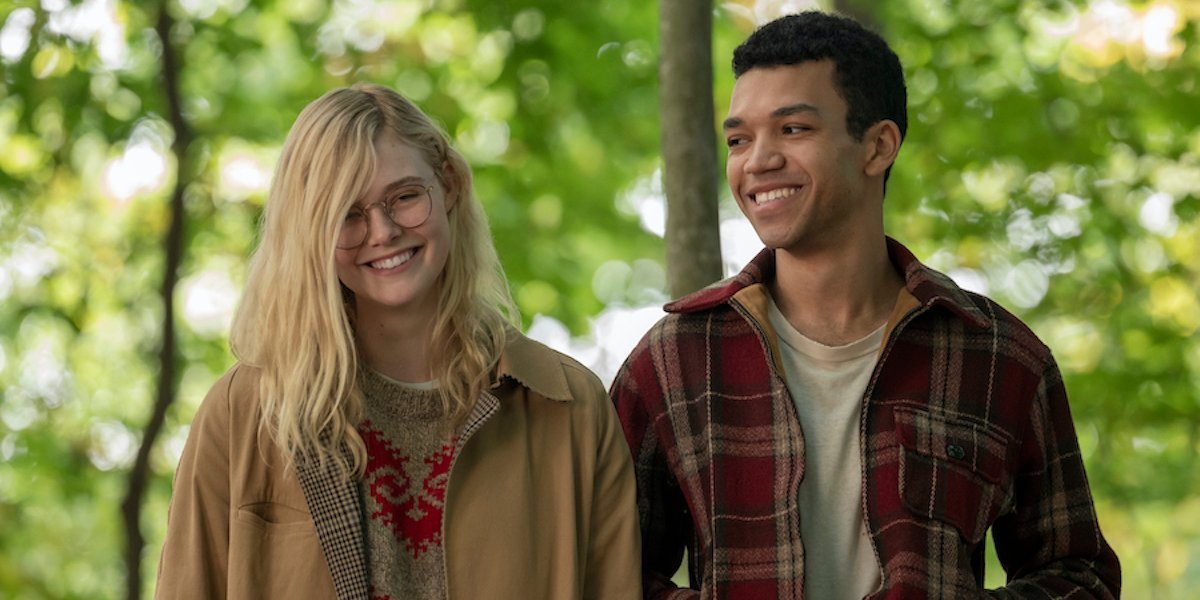 Elle Fanning and Justice Smith as the lead characters in All The Bright Places.