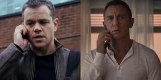 Jason Bourne on the phone with James Bond