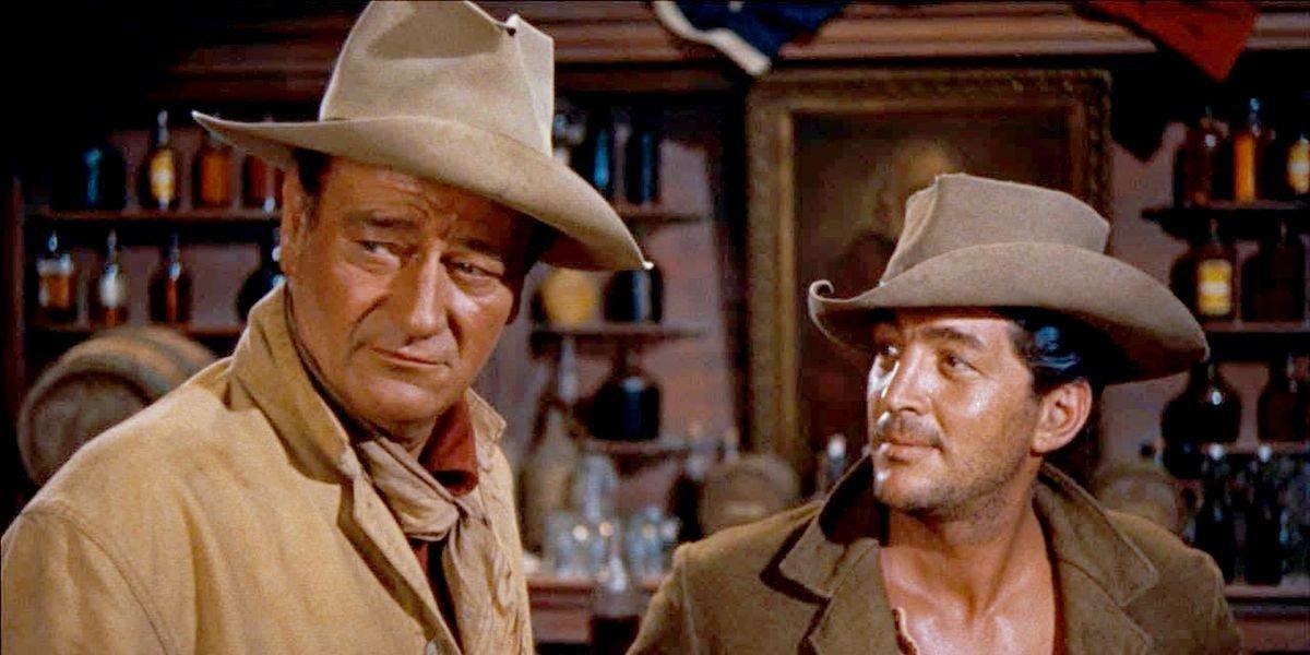 John Wayne on the left