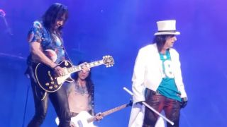 Ace Frehley and Alice Cooper