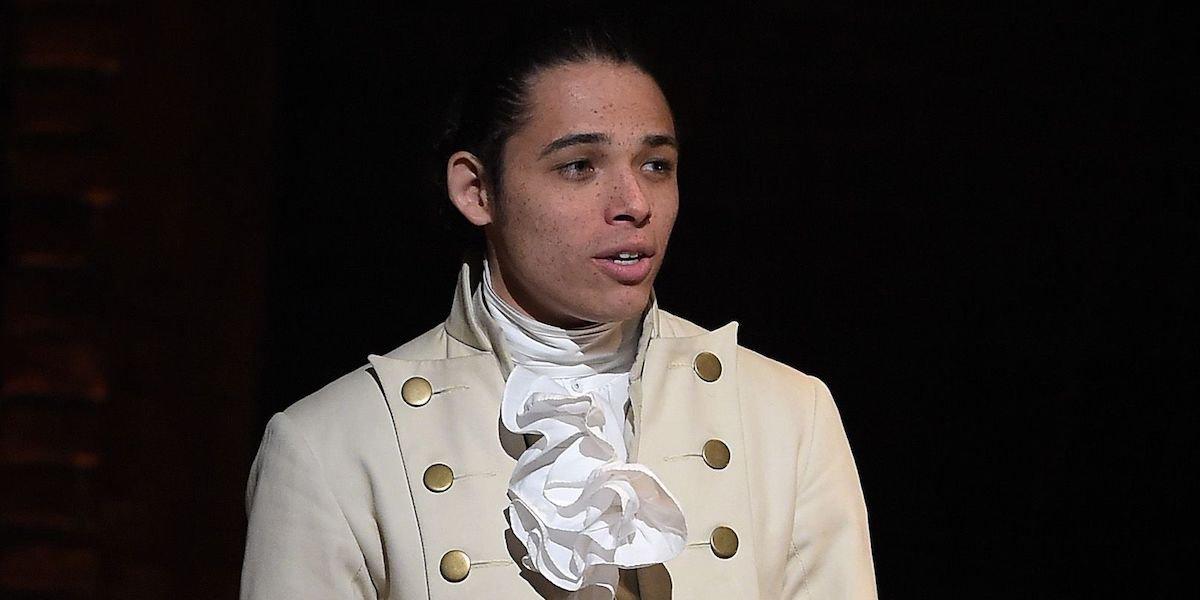 Anthony Ramos as John Laurens in Hamilton