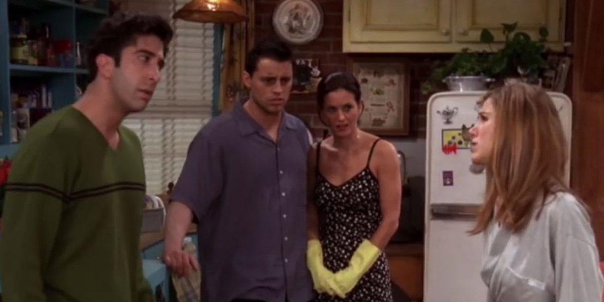 David Schwimmer, Matt LeBlanc, Courtney Cox, and Jennifer Aniston on Friends