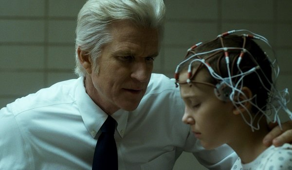 dr. brenner with eleven in lab stranger things