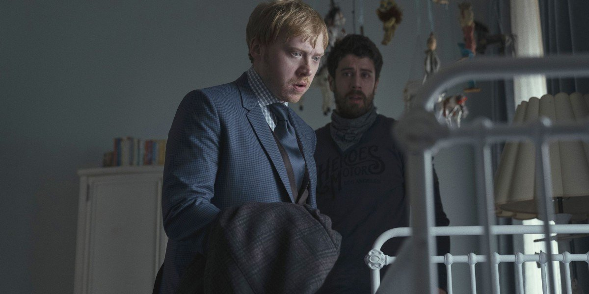Rupert Grint and Toby Kebbell in Servant