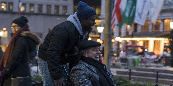 Kevin Hart and Bryan Cranston riding around in The Upside
